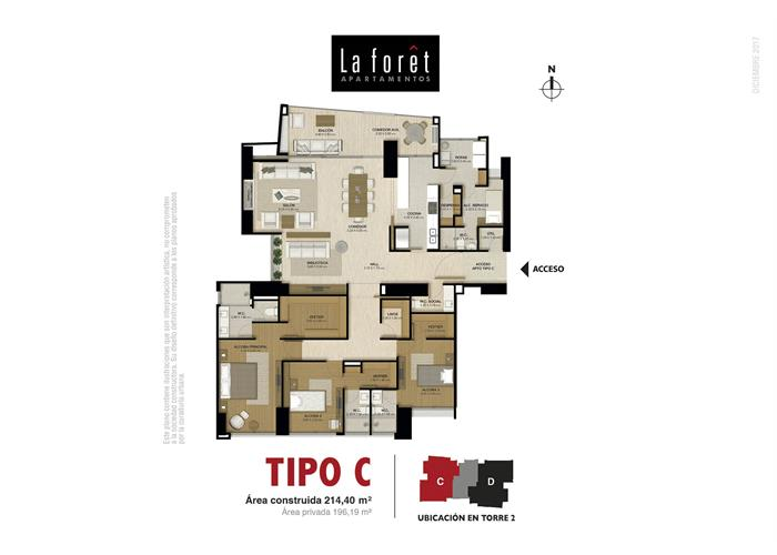 Tipo C 214,40 m2