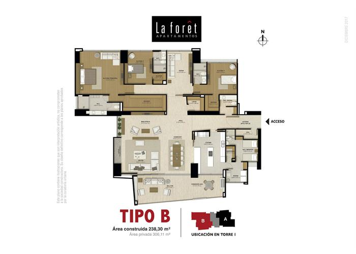 Tipo B 238,30 m2