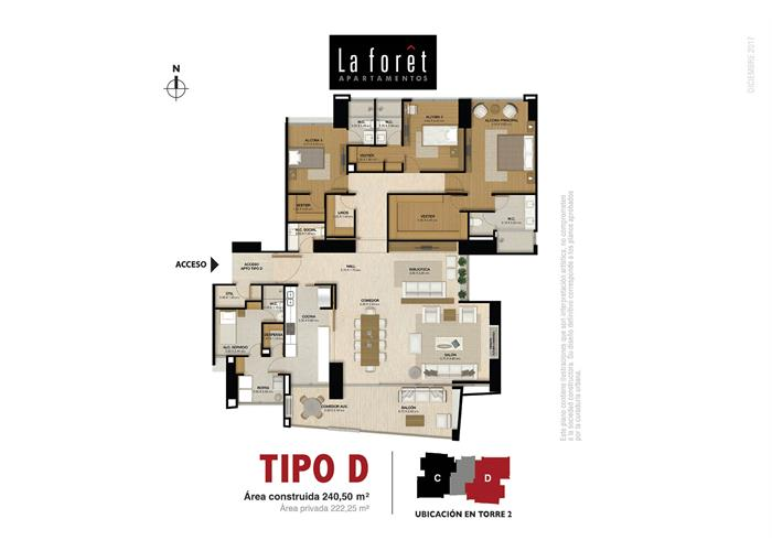 Tipo D 240,50 m2