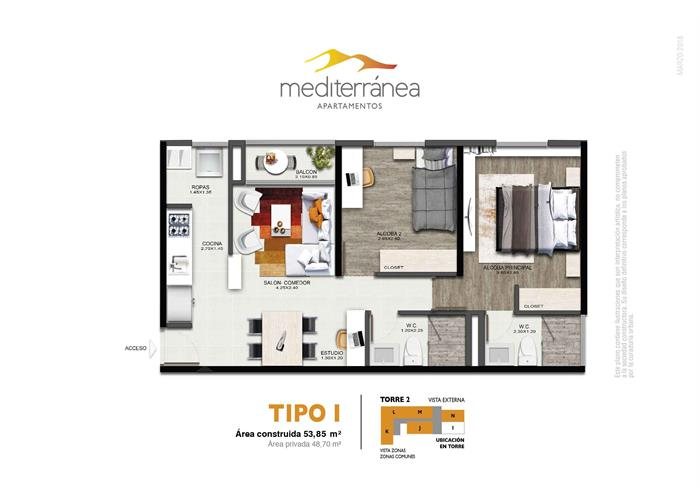 53,85 m2 tipo I
