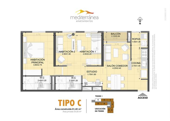 61,40 m2 tipo C