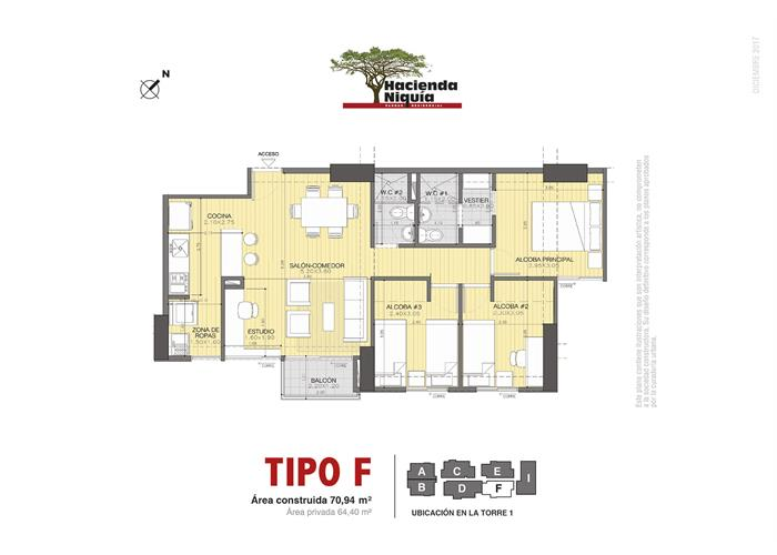 70,94 m2 tipo F