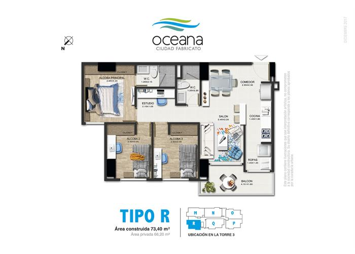 73,40 m2 tipo R