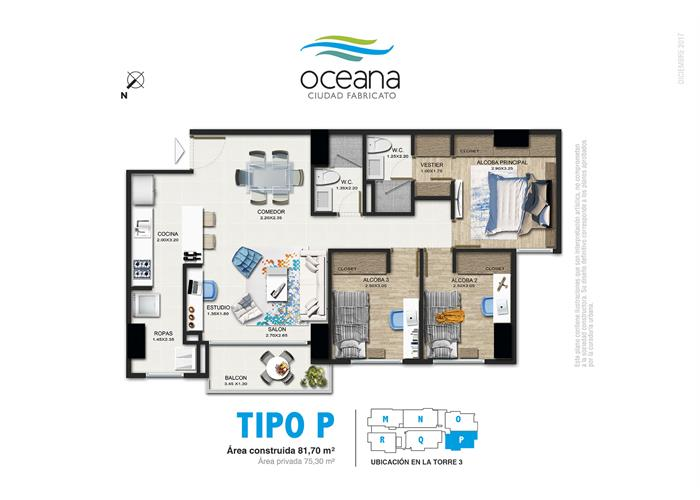 81,70 m2 tipo P