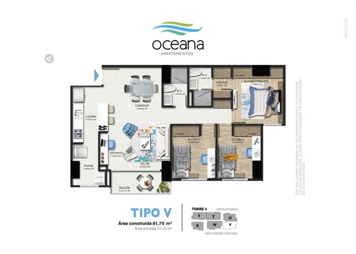 81,70 m2 tipo V