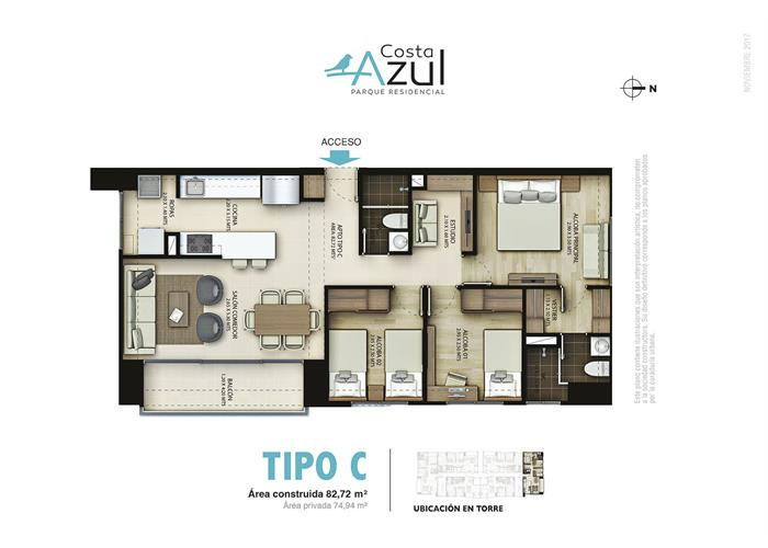 82,72 m2 tipo C