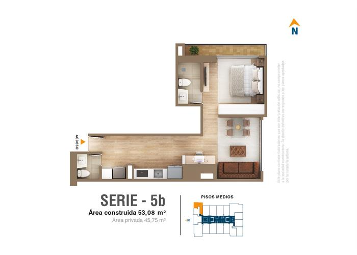 Tipo 5b 53,08 m2