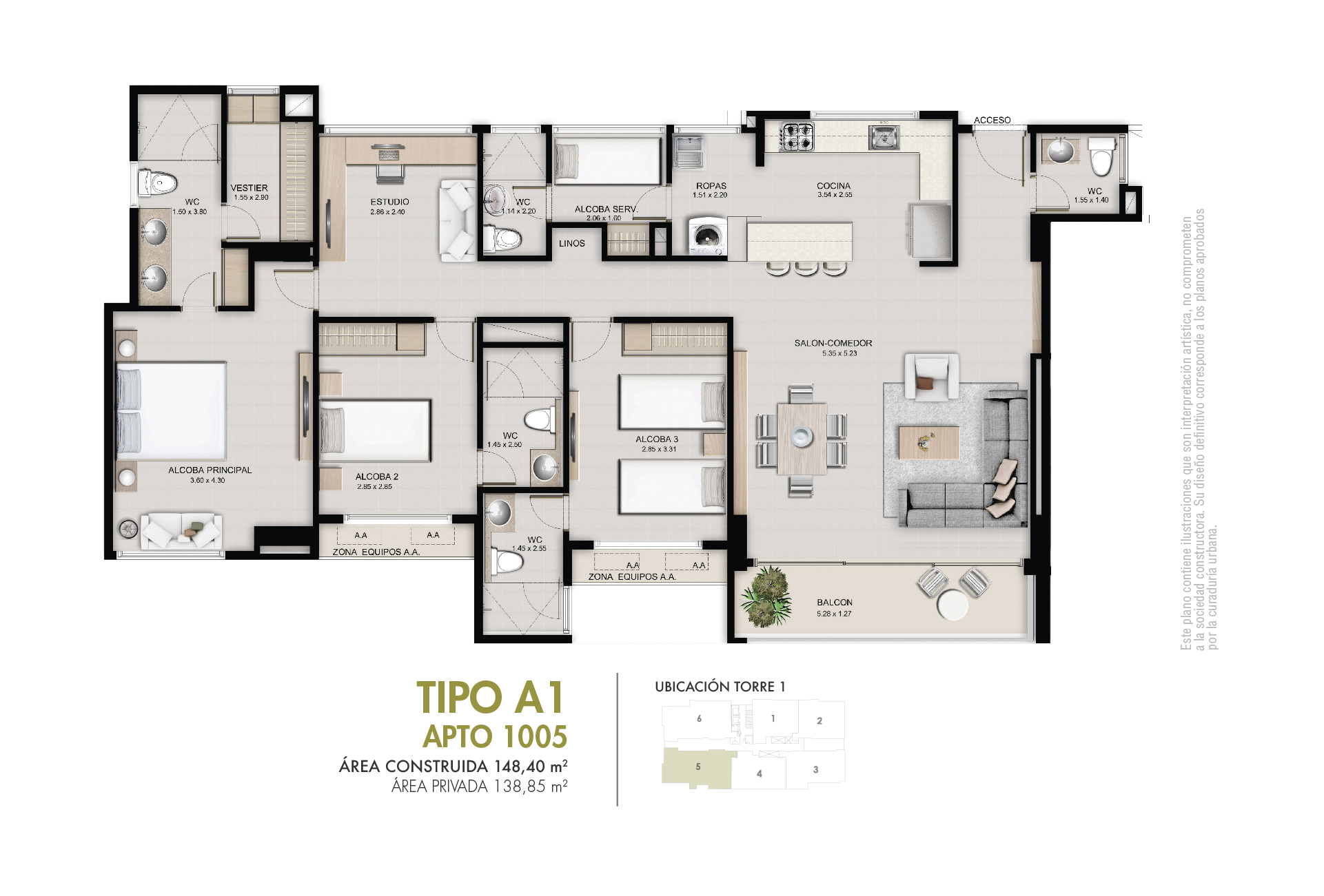 Tipo A 138,85 m2