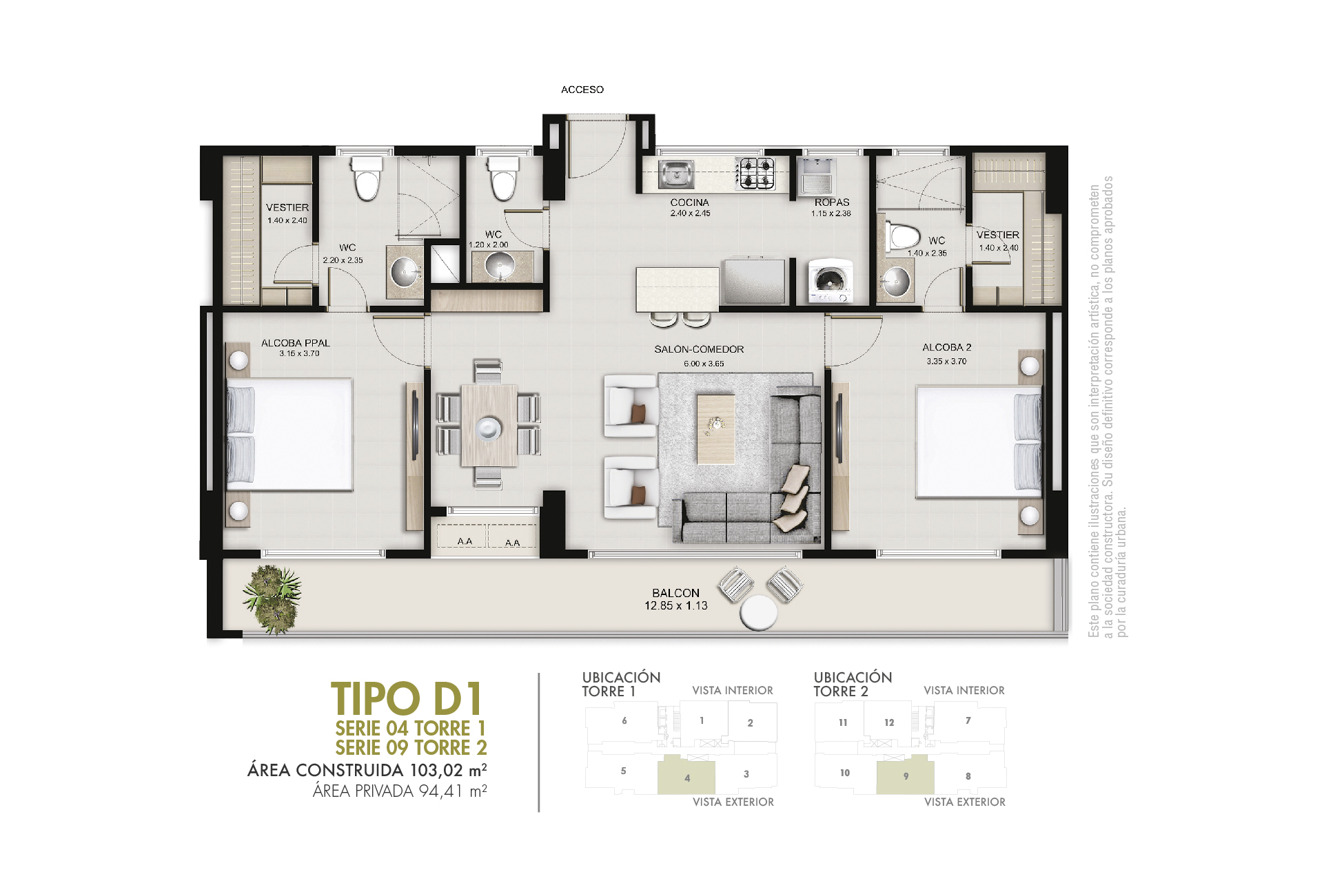 Tipo D 94,41 m2