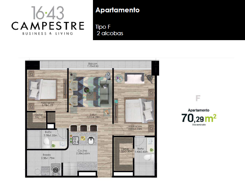 79,29 m2 tipo F