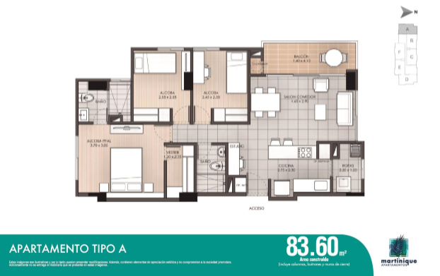 Tipo A 83,60 m2