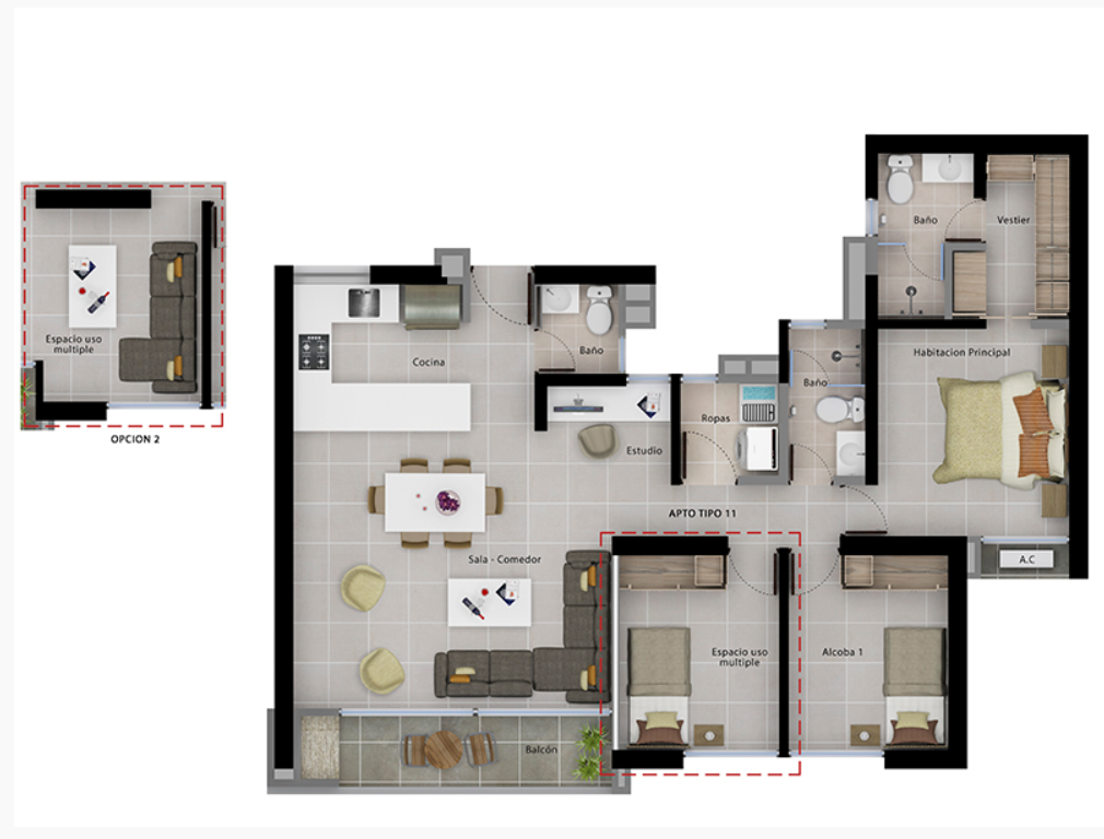Tipo 11 82.30 m2
