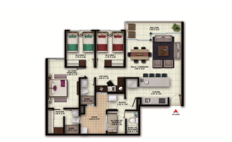 Tipo IN2 94.00 m2